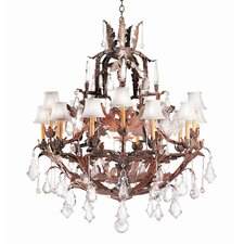 French Baroque 15 Light Chandelier