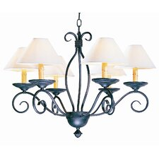 <strong>2nd Ave Design</strong> Sienna 6 Light Chandelier