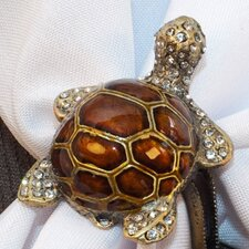 <strong>Rennie & Rose Design Group</strong> Coastal Turtle Napkin Rings (Set of 4)