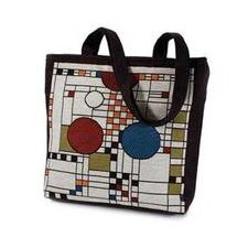 <strong>Rennie & Rose Design Group</strong> Frank Lloyd Wright Coonley Placehouse Unlined Shoulder Tote Bag