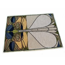 Arts and Crafts Art Nouveau Floral Window Placemat (Set of 4)