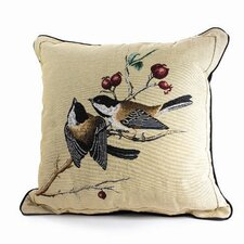 Bird Watchers Chickadee Pillow