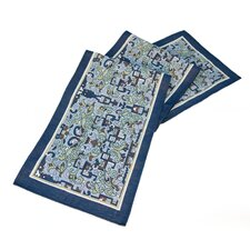 <strong>Rennie & Rose Design Group</strong> Arts and Crafts Asian Ornament Table Runner