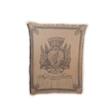 <strong>Rennie & Rose Design Group</strong> Vintage Hagen Cotton Throw Blanket with Emblem