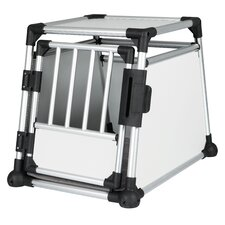 Scratch-Resistant Metallic Pet Crate