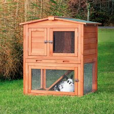 Small Rabbit Hutch with Peaked Roof