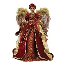 "16"" American African Diva Angel Tree Topper"