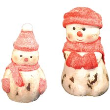 4 Piece Assorted Snowman Figurines Set
