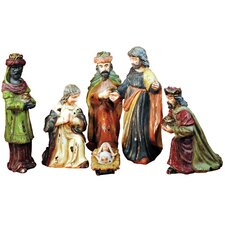 6 Piece Antique Holy Family Figurines Set