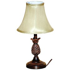 "Pineapple 18"" H Table Lamp with Bell Shade"