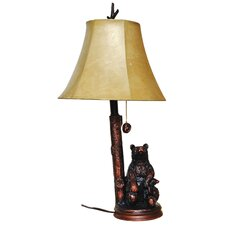 <strong>Santa's Workshop</strong> Sitting Bears Table Lamp