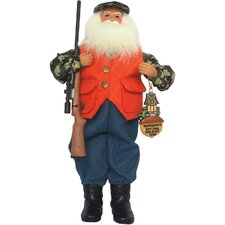 Deer Camp Santa Figurine