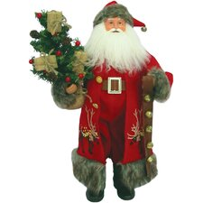 Reindeer Claus with Bells Hanging from Hand Figurine
