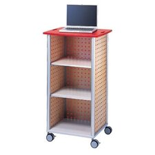 Wheelies® AV Media Cart with An Open Front and 2 Adjustable Shelves