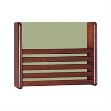Wooden One Pocket Magazine Rack with Front Slats