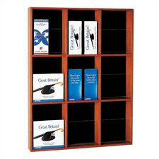 9 Pocket Vertical Magazine Rack with Paper Stop and Pocket Divider Kit