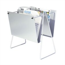Two Pocket Newspaper Floor Rack