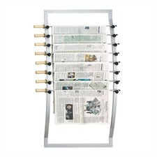 Seven Rod Aluminum Newspaper Hanger