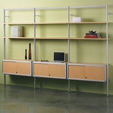 "Envision® 84"" H 1 Section/Starter Section Storage System with 1 Credenza and 2 Shelves"