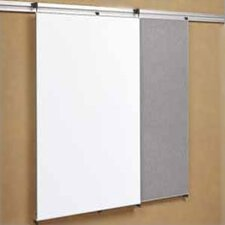"Tactics Plus® Track Mounted Fabric Tackable Panel/Writing 3'6"" x 3' Whiteboard"