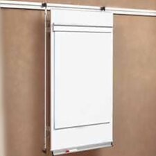 "Tactics Plus® Track Mounted Level 2 Flip Chart 3'6"" x 2'8"" Whiteboard"