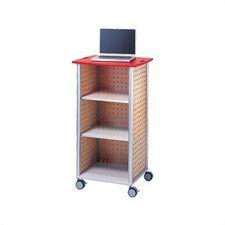 Wheelies® AV/ Media Cart with An Open Front and Two Adjustable Shelves