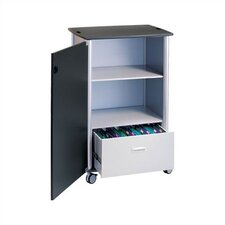 Wheelies® Mobile File and Storage Cart with Locking Doors and Adjustable Shelf