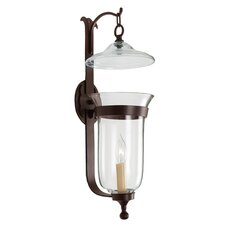 <strong>JVI Designs</strong> 1 Light Large Bell Jar Wall Sconce with Star Glass