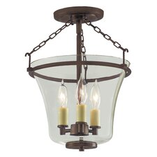Greenwich 3 Light Semi Flush Mount