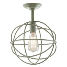 Globe 1 Light Semi Flush Mount