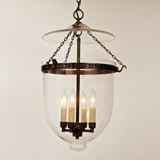 4 Light Extra Large Bell Jar Foyer Pendant