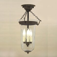 <strong>JVI Designs</strong> 3 Light Bell Jar Semi Flush Mount with Star Glass