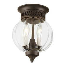 <strong>JVI Designs</strong> 2 Light Melon Small Flush Mount