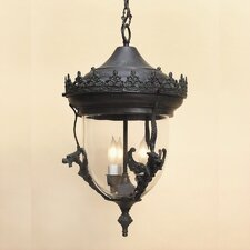 Gryphon 3 Light Outdoor Hanging Lantern