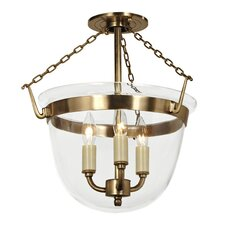 <strong>JVI Designs</strong> 3 Light Small Bell Foyer Pendant