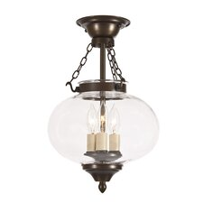 <strong>JVI Designs</strong> Classic Onions 3 Light Medium Semi Flush Mount