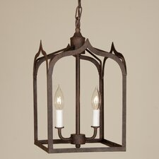 Gothic 2 Light Small Foyer Pendant