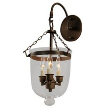 <strong>JVI Designs</strong> 3 Light Bell Jar Wall Sconce
