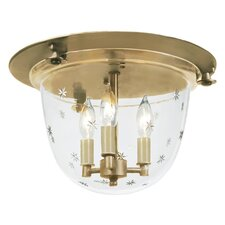 <strong>JVI Designs</strong> 3 Light Bell Flush Mount with Star Glass
