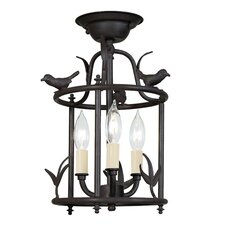 3 Light Bird Cage Semi-Flush Mount