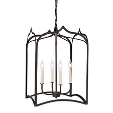 Gothic 4 Light Large Foyer Pendant