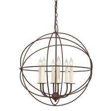 <strong>JVI Designs</strong> 6 Light Globe Chandelier