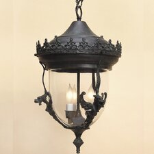 Gryphon Small 2 Light Outdoor Hanging Lantern