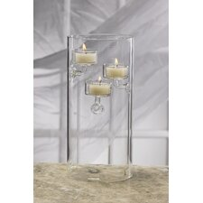 Glass Hurricane Tealight Trio Candle Holders