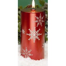 Snowflake Pillar Candles (Set of 2)