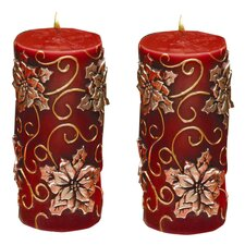 Ornate Pillar Candle (Set of 2)