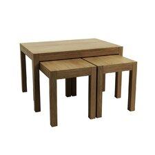 """3-tlg. Tisch Set """"Sims"""" aus Eichenholz"""