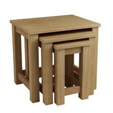 """3-tlg. Tisch Set """"Eclipse"""" aus Eichenholz"""
