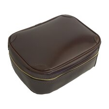 Flat Leather Toiletry Bag