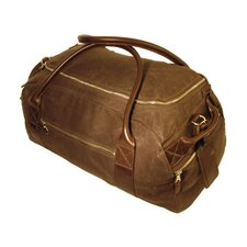 Waxed Canvas Oval Carry-On Duffel